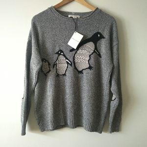 NWT Parkhurst Eco Cotton Heathered Grey Penguin March Pullover Sweater